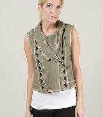 April May Becky Leather Vest at Nordstrom