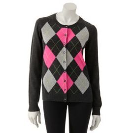 fe5aa2c59414 WornOnTV  Riley s grey and pink argyle cardigan on Baby Daddy ...