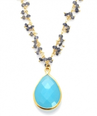 Aqua Chalcedony and Iolite Vision Necklace at Sacred Jewels