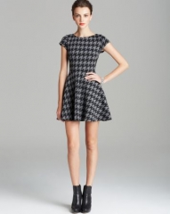 Aqua Dress - Houndstooth at Bloomingdales