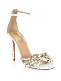Aquazzura - Bon Bon Leather Sandals at Saks Fifth Avenue