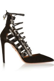 Aquazzura  Amazon suede and leather pumps at Net A Porter