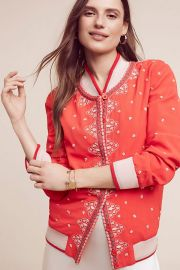 Arabella Embroidered Bomber at Anthropologie