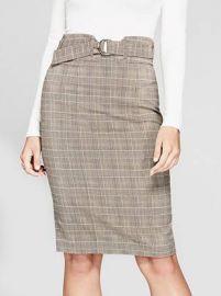 Aracelli Plaid Pencil Skirt at Guess