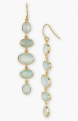 Argento Vivo Stone Linear Earrings in gold aqua at Nordstrom