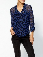 Arias blue leopard shirt at Piperlime
