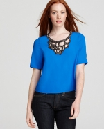 Aria's blue top by Tracy Reese at Bloomingdales
