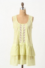 Aria's green top at Anthropologie