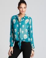Aria's skull print shirt at Bloomingdales