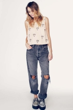 Aria's top in white at The Trend Boutique