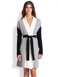 Arlotta - Colorblocked Cashmere Short Robe at Saks Fifth Avenue