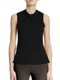 Armani Collezioni - Twist Silk Top in Black at Saks Fifth Avenue