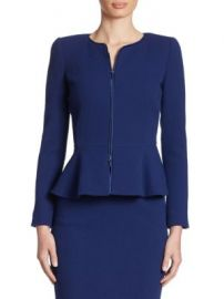Armani Collezioni - Wool Peplum Jacket at Saks Fifth Avenue