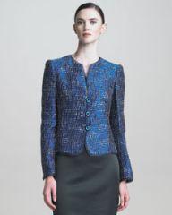 Armani Collezioni Lurex Tweed Jacket at Neiman Marcus