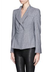 Armani Collezioni Plaid Houndstooth Jacket at Lane Crawford