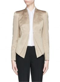 Armani Collezioni Triple Layer Hem Jacket at Lane Crawford