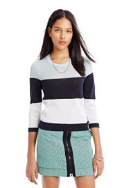 Armani Exchange Womens Colorblock Pullover in Blue at Amazon