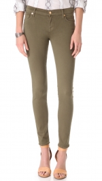 Army green jeans by 7 for all mankind at Shopbop