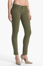 Army green skinny jeans by Current Elliot at Nordstrom