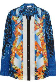 Arrow printed silk shirt at The Outnet