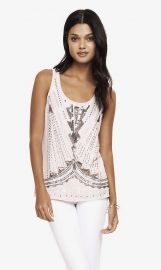 Art Deco Embellished Tank at Express