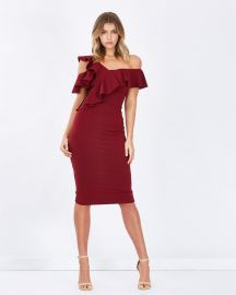 Arusha Frill Cold-Shoulder Dress by Tussah at The Iconic