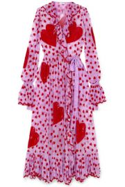 Ashish - Ruffled embellished chiffon wrap maxi dress at Net A Porter
