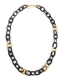 Ashley Pittman Bronze and Horn Link Mara Necklace at Neiman Marcus