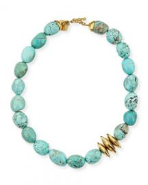 Ashley Pittman Yai Turquoise Necklace at Neiman Marcus