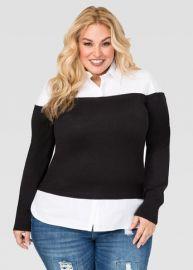Ashley Stewart Off Shoulder sweater Shirt at Ashley Stewart