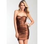 Ashley's bronze dress at Bebe at Bebe