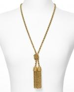Ashleys gold fringe necklace at Bloomingdales