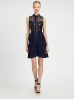 Ashleys leather dress at Saks Fifth Avenue