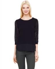 Asia Sweater in Black at Club Monaco