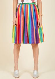 Aspiration Creation A-Line Skirt in Vibrant at ModCloth