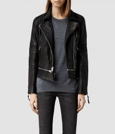 Assembly leather biker jacket at All Saints