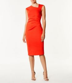 Asymmetric Neckline Dress at Karen Millen