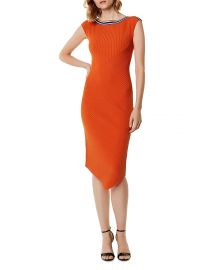 Asymmetric Rib-Knit Midi Dress Karen Millen at Bloomingdales