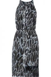 Asymmetric printed crepe dress at The Outnet