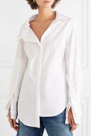 Asymmetric stretch-cotton poplin shirt at Net A Porter