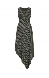 Asymmetrical Faux-Wrap Dress at Bcbg