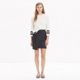 Asymmetrical Mini Skirt in Pinstripe at Madewell