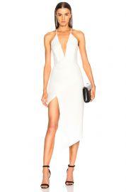 Asymmetrical Plunge Dress by Michelle Mason at Forward