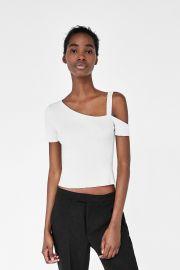 Asymmetrical Ribbed Top by Zara at Zara