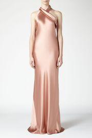 Asymmetrical Silk Bias Cut Dress by Galvan at Orchard Mile
