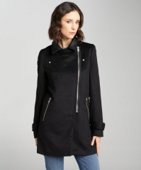 Asymmetrical Zip Coat at Bluefly