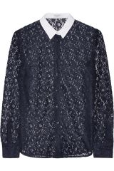 Audrey lace shirt by Equipment at The Outnet