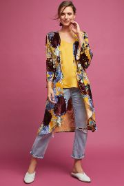 Aurelia Velvet Floral Kimono by Anthropologie at Anthropologie