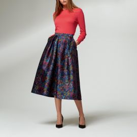 Aurorie Floral Print Skirt by L.K. Bennett at L.K. Bennett