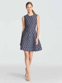 Austin Jacquard Dress at Draper James